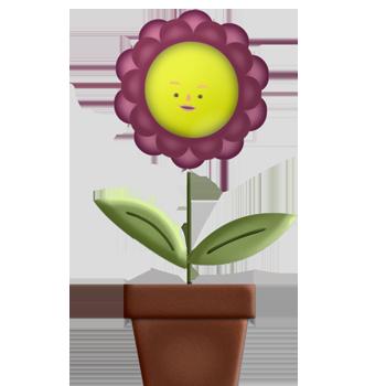 PSD цветок