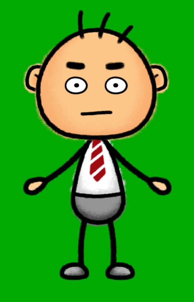 Персонаж на зеленом фоне