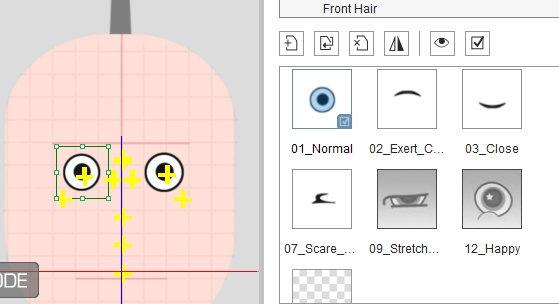 Sprite Editor-глаза