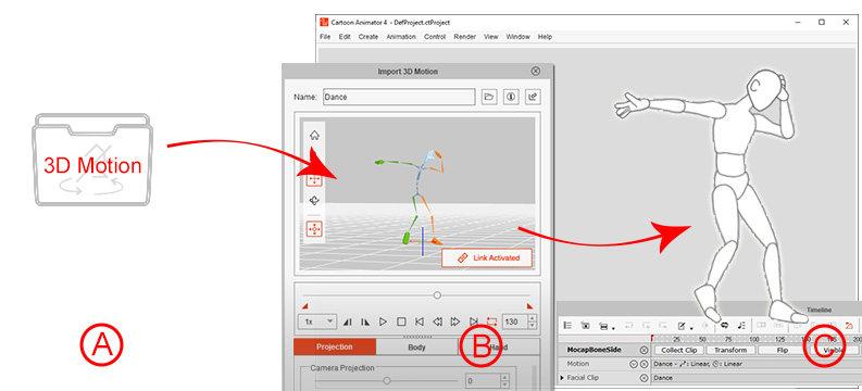 Import 3D Motion