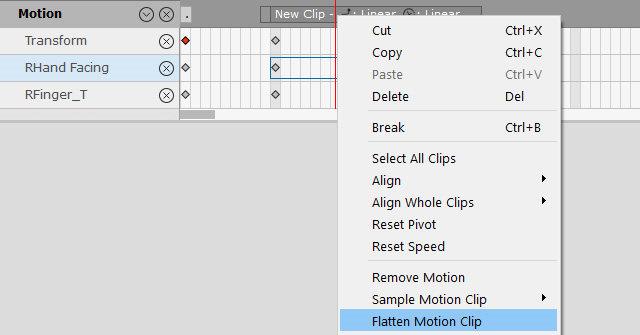 Flatten Motion Clip