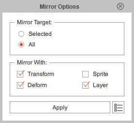 Panel Mirror Options
